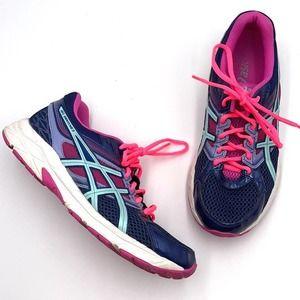ASICS T5F9N blue women's running shoes EUC size 8